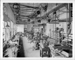 Interior of Mount Wilson Observatory's machine shop, Pasadena.