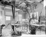 Wood shop in Mount Wilson Observatory's Pasadena physical laboratory.