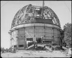 Construction of the 60-inch telescope building dome, Mount Wilson Observatory.