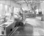 Interior of Mount Wilson Observatory's machine shop in Pasadena.