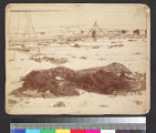 Remains of an Indian camp after a...