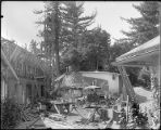 Construction of the monastery annex, Mount Wilson Observatory.