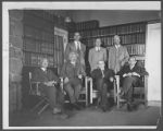 Scientists in the Monastery Library, Mount Wilson Observatory.