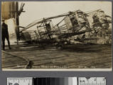 Wreck of Ferris Wheel at Venice...