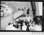Guests at the dedication of the 60-inch telescope, Palomar Observatory.