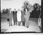 Five men posed outside Palmoar Observatory for the dedication of the 60-inch telescope.