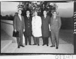 Five men posed outside Palomar Observatory for the dedication of the 60-inch telescope.