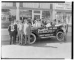 Start of Overland 100 hour economy run, East Colorado, Pasadena. 1924