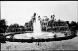Fountain at Exposition Park, Los Angeles, ca. 1925.