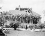 Residence of S. B. Lewis, Adams Street, Los Angeles. 1898
