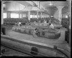Workers and inflatable boats, Goodyear Tire and Rubber. 1943.