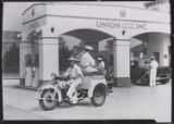 Service bike at a Union Oil station, 4004 Wilshire, Los Angeles. 1932.