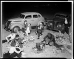 Beach picnic, Huntington Beach. 1937.