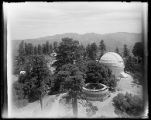 Construction of walls for water reservoir at Mount Wilson Observatory.