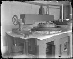 Grinding and polishing machine at the Mount Wilson Observatory Optical lab, Pasadena.