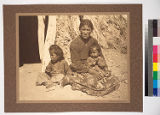 The wife and children of Hostine Nez, Navajo of Chinle, Arizona.