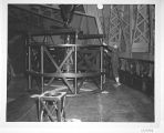 Attaching the cassegrain cage to  a crane, to attached it to the Hooker 100-inch telescope, Mount...