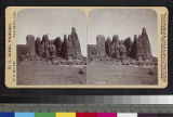 Recto of Rock formations on Acoma...