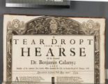 A tear dropt from the hearse of the Reverend Dr. Benjamin Calamy  late minister of St. Lawrence...