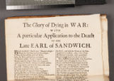 The glory of dying in war: with a particular application to the death of the late Earl of Sandwich