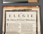 An elegie upon Mr. Thomas Hobbes of Malmesbury, lately deceased