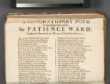A congratulary poem on the Right Honourable Sir Patience Ward, Knight and Baronet, Lord Mayor of...