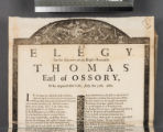 An elegy to the memory of the Right Houorable [sic] Thomas Earl of Ossory, who depated [sic] this...