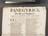 A panegyrick to His Royal Highness. Upon His Majesties late declaration. Especially drawn from...