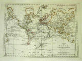 A Chart of the World according to Mercator's Projection wherein are shown the Latest Discoveries...