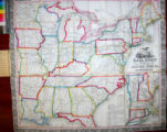 Ensign, Bridgman & Fanning's Rail Road Map of the United States, showing the Depots &...