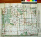 Clason's guide map of Wyoming.