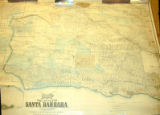 Map of the County of Santa Barbara California.