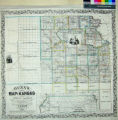 Gunn's new map of Kansas and the gold mines embracing all the public surveys up to the 6th...