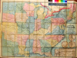 Traveling map of the United States : exhibiting the cities, towns, villages, stations, &...