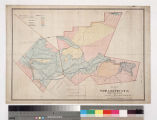 Map of the Pauba Land & Water Co. showing proposed reservoir and valley & hill land...