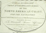 A New and Accurate Chart (from Captain Holland's Surveys) of the North American Coast, for the...