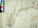 A New Map of New England. New York. New Jarsey. Pensilvania. Maryland. and Virginia. by Philip Lea...