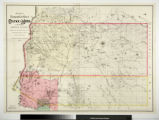 Sectional and Topographical Map of Colfax and Mora Counties Territory of New Mexico