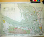 Washington Transportation Map : highways, railroads, canals, air lines and dredged channels /...