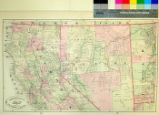 New Rail Road and County Map of Northern California and Nevada