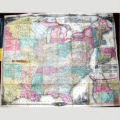 A new map for travelers through the United States of America : showing the railroads, canals and...