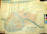 New map of the city of New Orleans : showing electric lines of street railways & names of...