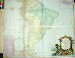 Map of South America containing Tierra-Firma, Guayana, New Granada, Amozonia, Brasil, Peru,...