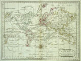 A New Chart of the World on Mercator's Projection with The Tracks and Discoveries of the Latest...
