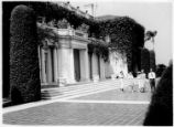 South terrace of the Huntington residence.
