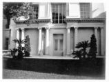 North façade of the Huntington residence.