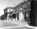 South terrace of the Huntington residence, circa 1920.
