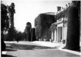 South façade and terrace of the Huntington residence, circa 1938.