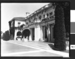 South terrace and façade of the Huntington residence, circa 1920.