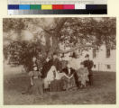 Group portrait of Henry E. Huntington and family in Oneonta, New York, circa 1900.
